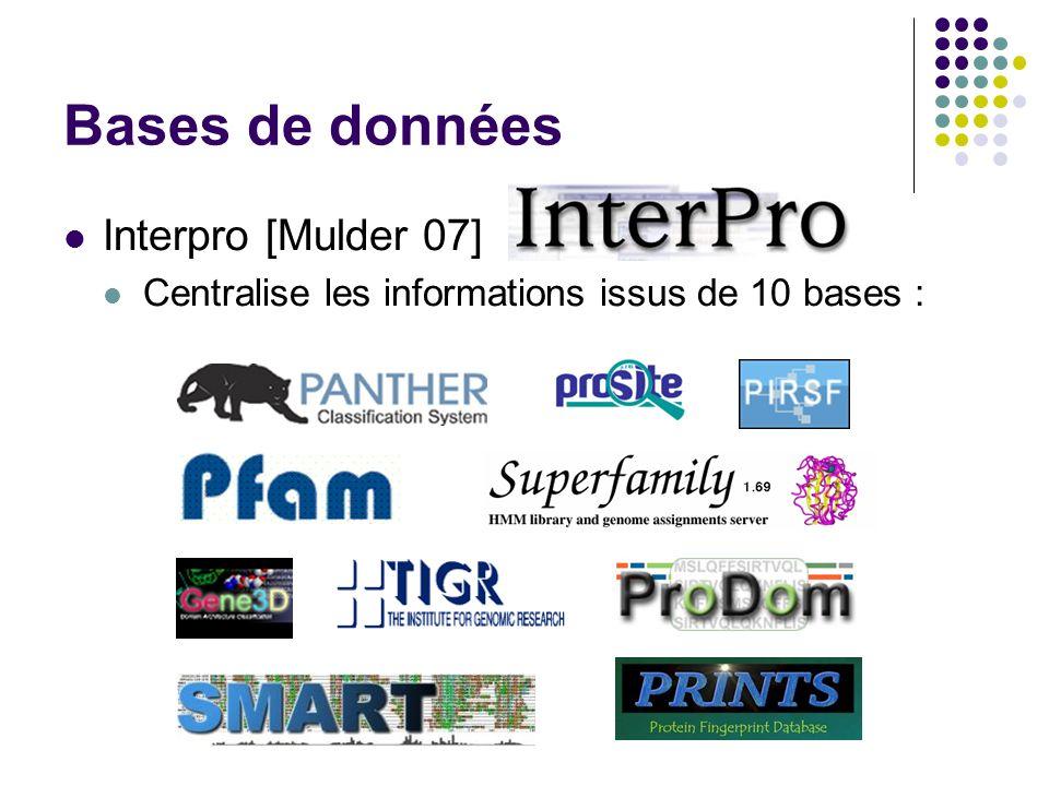 Bases de données Interpro [Mulder 07]